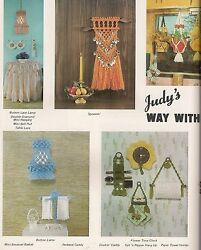 Kitchen Caddy Plant Hanger amp; Lamp Patterns Craft Book: Judy#x27;s Way With Macrame $11.77