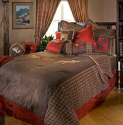 Moose Plaid Bedding Collections - Cabin  Rustic - Free  Shipping + Free Throw!