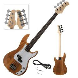 New Professional Wood Color 4 String Electric Bass Guitar $74.66