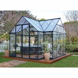 Palram Chalet Four Seasons Greenhouse- 8FtW x 12FtL Model# HG5400