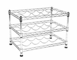 NEW Seville Classics 12 Bottle Stackable Wine Rack 11.5 inch by 17.5