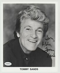 TOMMY SANDS SIGNED 8X10 PHOTO INSCRIBED AUTO BABES IN TOYLAND ENSIGN PULVER JSA