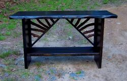 Sofa Table Rustic Modern Console Entry Log Cabin Furniture Ebony stain FREE SH!