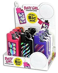 PARTY GIRL MINI LIGHTER CASE ONE CASE WITH RANDOM DESIGN AND COLOR $4.99