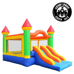 Commercial Bounce House 100% PVC Double Slide Climbing Wall Inflatable Only