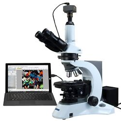 OMAX 40X-1000X 14MP Digital PLAN Infinity Trinocular Polarized Kohler Microscope