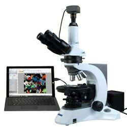 OMAX 40X-1000X 10MP USB3.0 PLAN Infinity Trinocular Polarizing Microscope