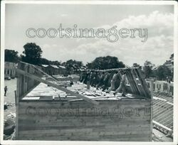 Workers Raise Wall on Home Tomony Hill Newport Rhode Island Press Photo $10.00