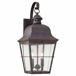Sea Gull Lighting Chatham Colonial Bronze Outdoor Wall Lantern