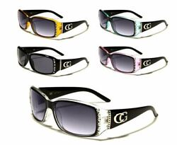 CG Eyewear Sunglasses Designer Fashion With Rhinestones Plastic Frames For Women