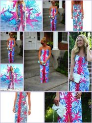 NWT LILLY PULITZER 2 ANGELA MAXI DRESS RESORT WHITE SHE SHE SHELLS HOLY GRAIL!!