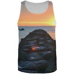 Beach Sunset All Over Adult Tank Top $24.00