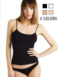 4 Pack Womens Cotton Camisole Tank Top Spaghetti Strap Assorted Colors Plain SML $12.99