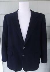 Navy cashmere 2 button jacket blazer 46R Threads II