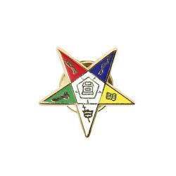 OES Cool Star Lapel Pin 1 inch New Order of the Eastern Star $8.85