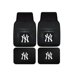 New MLB New York Yankees Car Truck Front Back Rubber All Weather Floor Mats $26.59