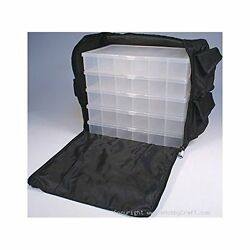 NEW Black Nylon Bead Sewing Craft Supply Storage Caddy Tote with 5 Organizers