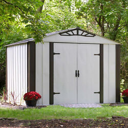 Arrow Designer Hot Dipped Galvanized Steel Shed (10' x 8')