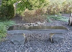 Stone Age Creations BE-BA-3 Basalt Stone Park Bench