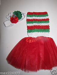 NEW Baby winter 0 24 MONTHS Christmas tutu top amp; headband $10.99