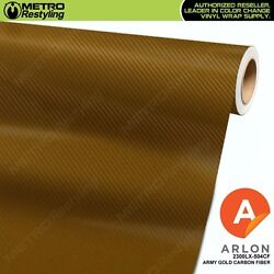 ARLON 2300LX-504CF ARMY GOLD CARBON FIBER Vinyl Vehicle Car Wrap Decal Film Roll