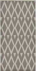 Area Mat Flatweave PatioPoolCamp Rugs Dark Gray 3' 10 x 81' 11 Outdoor  Rug