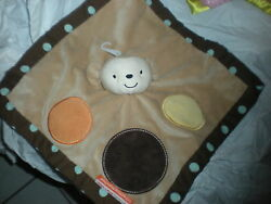 little miss matched dot BROWN MONKEY LOVEY BLANKET BABY