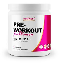 Nutricost Pre-Workout for Women (30 Serv) Strawberry - Powerful Energy
