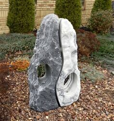 """Stone Age Creations FN-SE-36 Serenity Marble 36"""" Lantern Duo Natural Stone"""