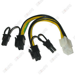 16quot; PCI 6 pin to 2 x 8 pin PCI E Power Cable Splitter $5.95