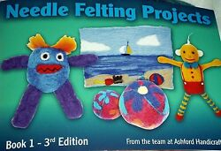 Ashford Book 1 3rd Edition NEEDLE FELTING Projects Book KIT Needles