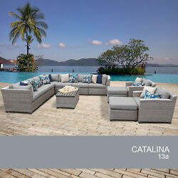 Catalina 13 Piece Outdoor Wicker Patio Furniture Set 13a