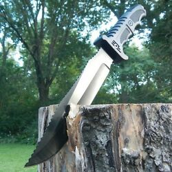 13quot; TACTICAL FIXED BLADE Machete SURVIVAL KNIFE Hunting Army Military w SHEATH $12.75
