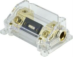Heavy Duty ANL Fuse Holder InOut 4GA 4Gauge with 300 AMP 300A Car Audio Fuse