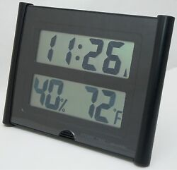 NEW Atomic Time ET 31U Wall Clock Weather Station Digital Temperature Large Font $16.95