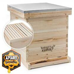 Beehive 20 Frame Complete Box Kit 10 Deep 10 Medium Langstroth Beekeeping $122.49