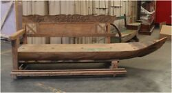 Antique BIG Wooden Boat Bench Seating with Old Paint from Indonesia Seas