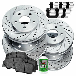 Full Kit Cross-Drilled Slotted Brake Rotors and Ceramic Brake Pads BLCC.44160.02 $132.08