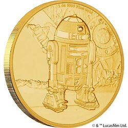 Pre order Niue Star Wars Coin Collection R2-D2 $250 Gold Proof 2016 Limited