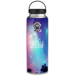 Skin Decal for Hydro Flask 40 oz Wide Mouth  Dream Poem  Galaxy