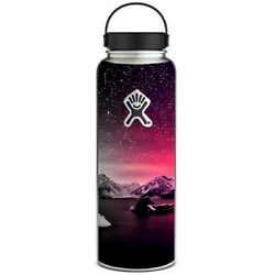 Skin Decal for Hydro Flask 40 oz Wide Mouth  Winter Starry Night