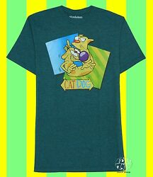 New Nickelodeon Catdog Vintage Men#x27;s Classic Retro T Shirt $18.95