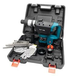 1 1 2quot; SDS Electric Rotary Hammer Drill Plus Demolition Variable Speed w Bits US $69.99