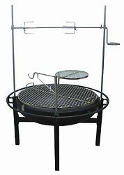 Rancher Fire Pit Charcoal Grill with Rotisserie 31-Inch Brand New!