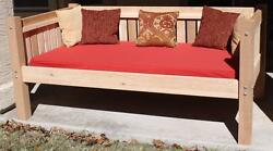 BRAND NEW ALL CEDAR VICTORIAN PATIO OUTDOOR DAYBED - QUEEN WITH 5
