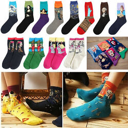 Vintage Retro Famous Painting Art Socks Novelty Funny Novelty For Men Women Cool C $3.49