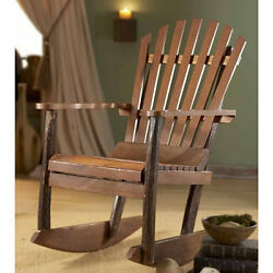 TF-0483 Brown Wood Adirondack Rocking Chair (Thailand)