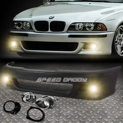 FOR 96 03 BMW E39 5SERIES M5 STYLE REPLACEMENT FRONT BUMPER BODY KITFOG LIGHT $163.97