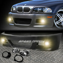 FOR 99 06 E46 3SERIES NON M M3 STYLE REPLACEMENT FRONT BUMPER BODY KITFOG LIGHT $214.99