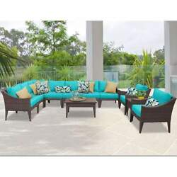 Miseno MANHATTAN-11a-ARUBA NYC 11-Piece Outdoor Furniture Sets and Club Chairs